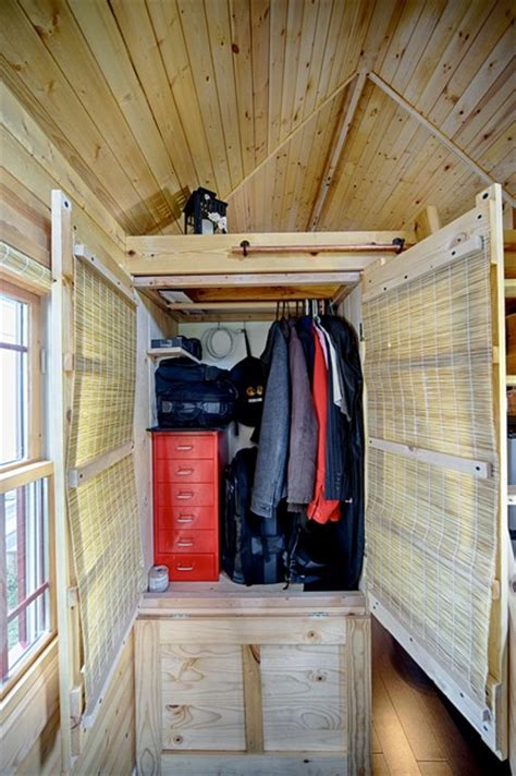 tiny house closet our tiny tack house rustic closet seattle by the tiny tack house