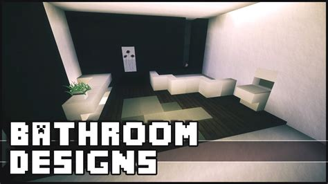 Bathroom Designs For Small Bathrooms by Minecraft Bathroom Designs Amp Ideas Youtube
