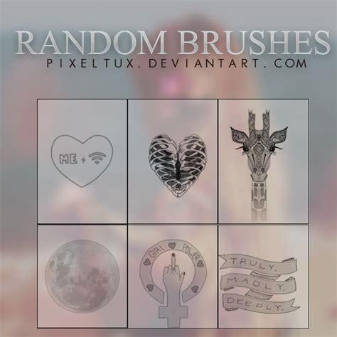 random pattern brush photoshop random photoshop brushes by pixeltux on deviantart