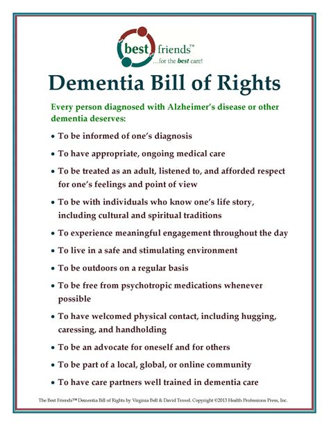 printable version of the us bill of rights dementia bill of rights