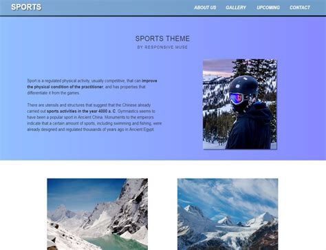 muse responsive templates sports template responsive muse templates widgets