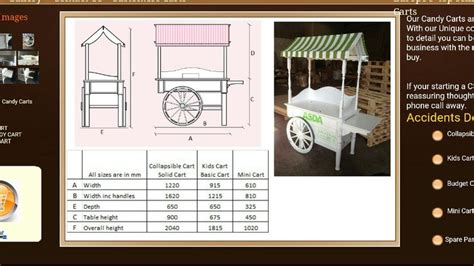 measurements candy cart woodworking bench plans