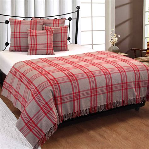 bed throw cotton extra large tartan throws for sofas bed throw