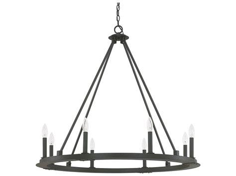capital lighting pearson chandelier capital lighting pearson black iron eight light 36 wide