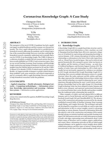 (PDF) Coronavirus Knowledge Graph: A Case Study