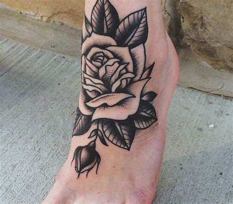 rose on foot tattoo best 25 traditional style ideas on
