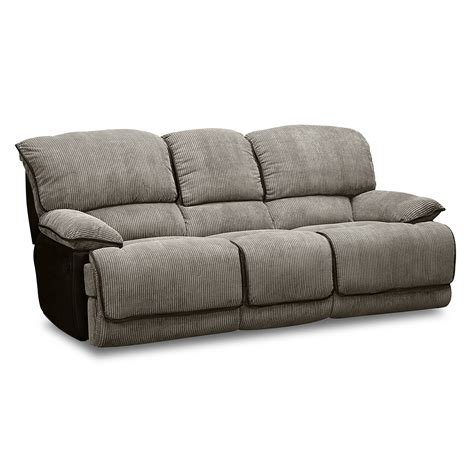 laguna dual reclining sofa steel value city furniture
