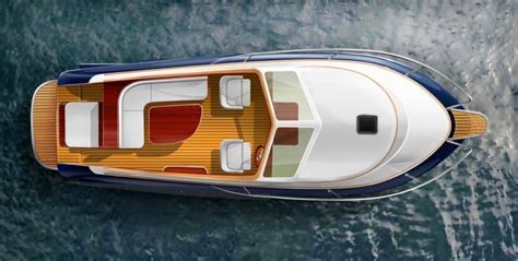 fishing boat top view top view of rivena 23 touring boat design net