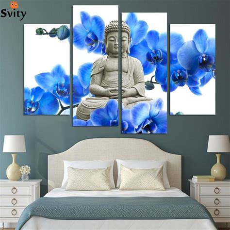 aliexpress home decor free shipping 4 pieces hot sell modern wall painting