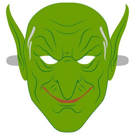 green goblin mask template  printable papercraft