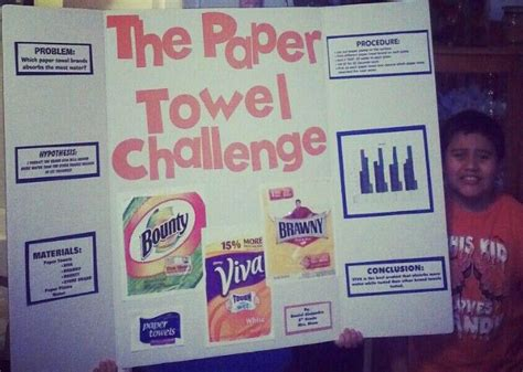 How To Make Paper Science Project - science fair project the paper towel challenge our