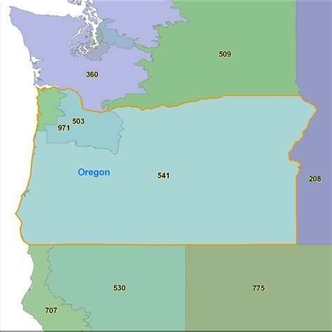 zip code map oregon oregon area code maps oregon telephone area code maps