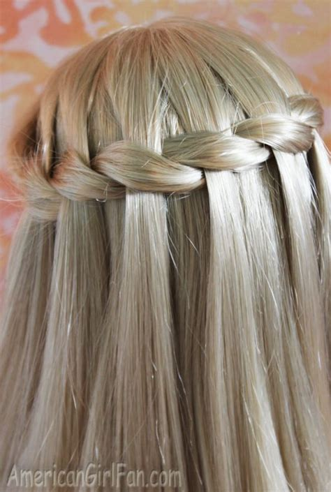 american girl doll hairstyle waterfall twist braid