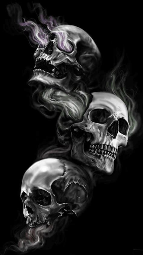 badass wallpapers  android     skulls  dark black background skull wallpaper