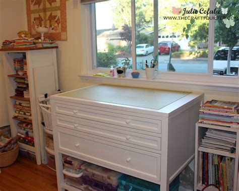 Cutting Table For Sewing Room by Sewing Room Tour The Crafty Quilter