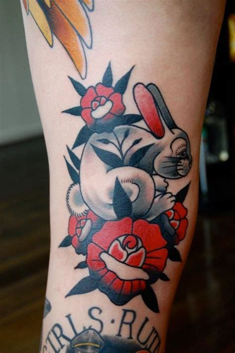 tattoo old school rabbit 26 rabbit tattoos hop to pop