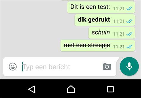 Letter Whatsapp Status Whatsapp Ondersteunt Nu Dikgedrukte En Schuine Letters