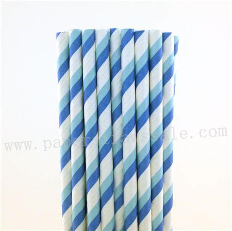 light blue paper straws blue stripe paper straws blue and light blue striped paper