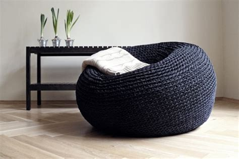 knitted bean bag cover interesting bean bag chair designs for your modern home