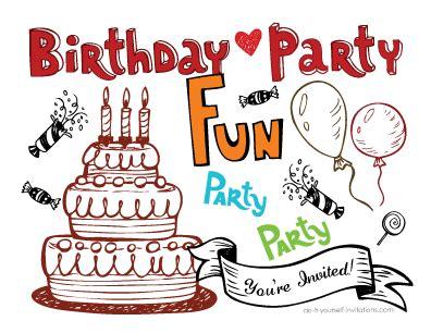 free printable postcard party invitations printable birthday postcard invitations