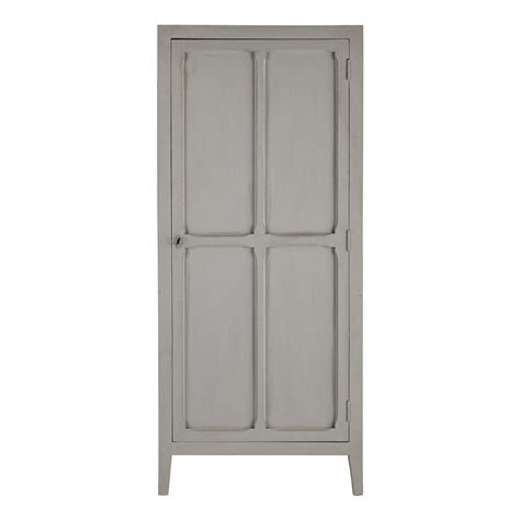 Grey Wood Wardrobe Mango Wood Wardrobe In Grey W 75cm Pensionnat Maisons Du