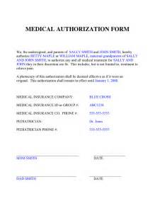 Authorization Letter For Child sample medical authorization letter for child medical consent