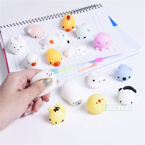silicone animal squishy aksesoris hp mini squeeze toys soft silicone squishy animals
