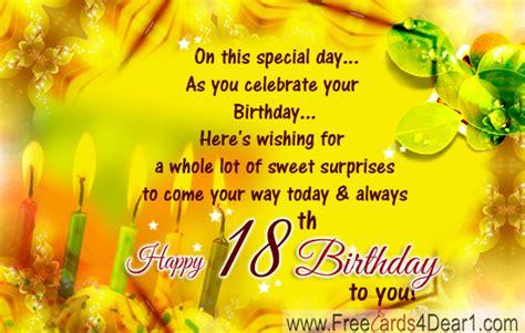 Happy Th Birthday Ecards by Happy 18th Birthday Greeting Ecard Greeting Cards