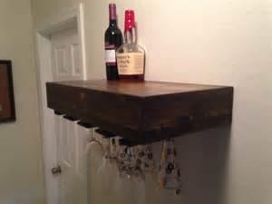 floating shelfwine glass rack wine glass by azdesertwood