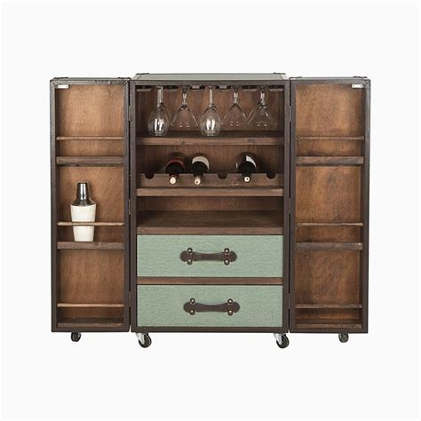 Trunk Bar Cabinet by Bb Steamer Trunk Bar Cabinet