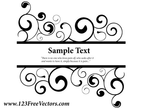 cdr translation pattern vector ornate swirl banner vector free vector graphics