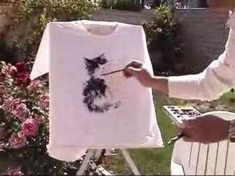 acrylic paint cotton shirt painting t shirt using fabric acrylic paints