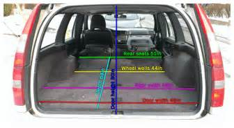 Volvo V70 Width 850 V70 Wagon Cargo Dimensions