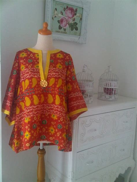 Blouse Jumputan 1000 images about baju on fashion weeks illusions and batik blazer