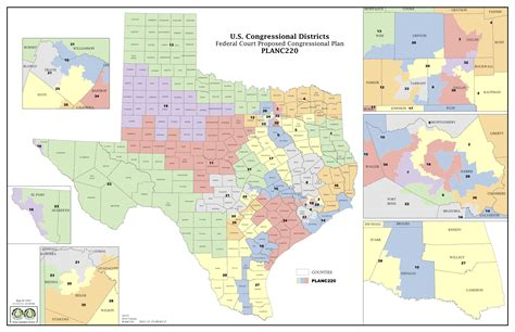 district map of texas federal judge releases proposed congressional district map for texas designed to increase