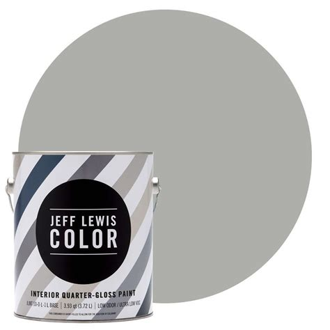 jeff lewis color 1 gal jlc413 dusk quarter gloss ultra low voc interior paint 301413 the