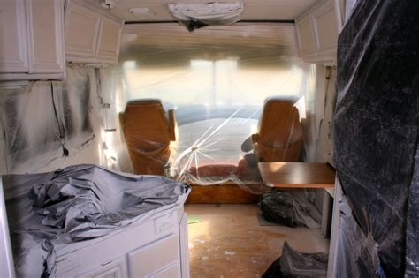how to spray paint the interior of your rv in 13 pictures