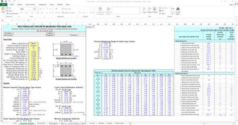 House Building Calculator concrete beam design spreadsheet civil engineering