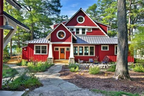 between days red house painters house paint would be a red house facade something for