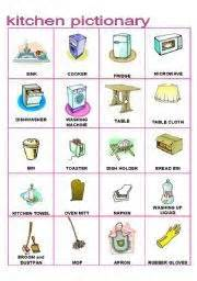 Kitchen Furnitures List 1000 Images About For On Worksheets Esl And Vocabulary