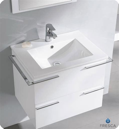 white contemporary bathroom vanity fresca cielo white 24 quot modern bathroom vanity compact bathroom vanities