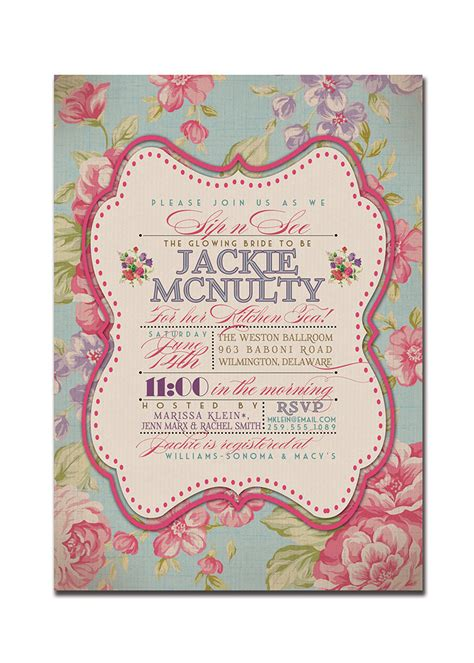 Kitchen Tea Invites Ideas Kitchen Tea Bridal Shower Invitation Rustic Wedding Invitation
