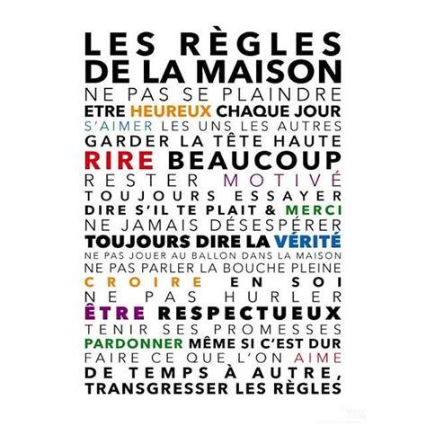 Tableau Regle De Vie by Tableau Maison Regle De Vie Citation Pour L 226 Me Et L