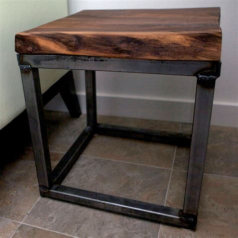 Steel End Table by Furniture