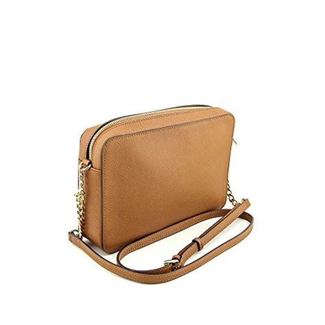 Mk Sling Bag Kg6017 michael kors jet set womens large leather crossbody handbag brown 11street my sling bags