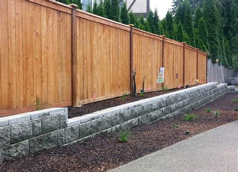 Retaining Wall And Fence In Olympia Ajb Landscaping Fence Garden Wall Fencing