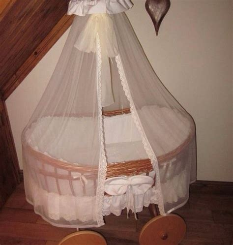 wicker moses basket crib on wheels baby moses nursery