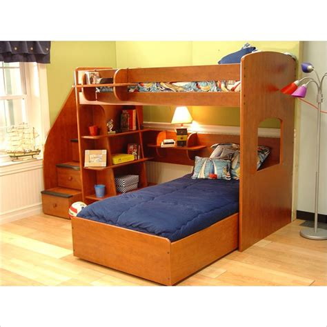 berg loft bed shop home garden berg utica loft twin over twin bunk