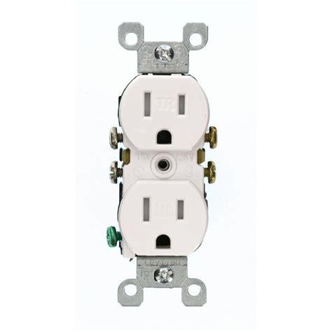 leviton 15 duplex outlet white r52 05320 00w the
