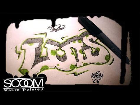 imagenes de letras goticas que digan luis graffiti luis how to draw graffiti names by scoom